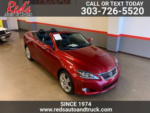 2011 Lexus IS 350C for sale at Red's Auto and Truck in Longmont CO