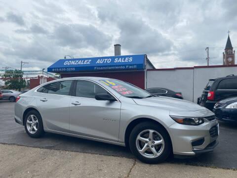 2016 Chevrolet Malibu for sale at Gonzalez Auto Sales in Joliet IL