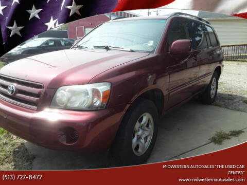 "2006 Toyota Highlander for sale at MIDWESTERN AUTO SALES        ""The Used Car Center"" in Middletown OH"