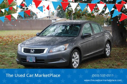 2008 Honda Accord for sale at The Used Car MarketPlace in Newberg OR
