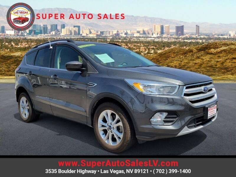 2018 Ford Escape for sale at Super Auto Sales in Las Vegas NV