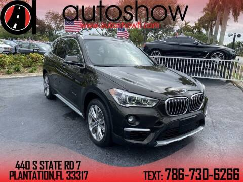 2017 BMW X1 for sale at AUTOSHOW SALES & SERVICE in Plantation FL