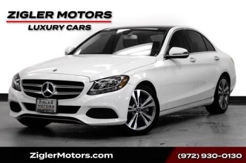 2018 Mercedes-Benz C-Class for sale at Zigler Motors in Addison TX