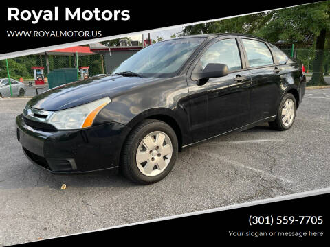 2009 Ford Focus for sale at Royal Motors in Hyattsville MD