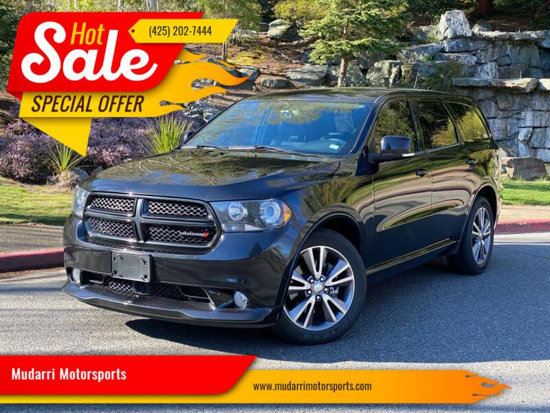 2013 Dodge Durango for sale at Mudarri Motorsports in Kirkland WA