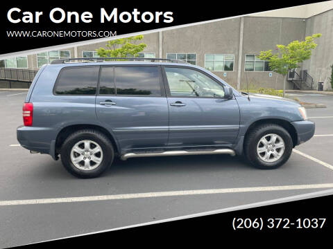2003 Toyota Highlander for sale at Car One Motors in Seattle WA