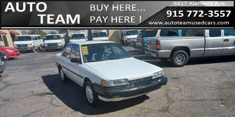 1990 Toyota Camry for sale at AUTO TEAM in El Paso TX
