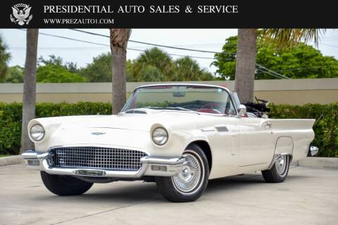 1957 Ford Thunderbird for sale at Presidential Auto  Sales & Service in Delray Beach FL