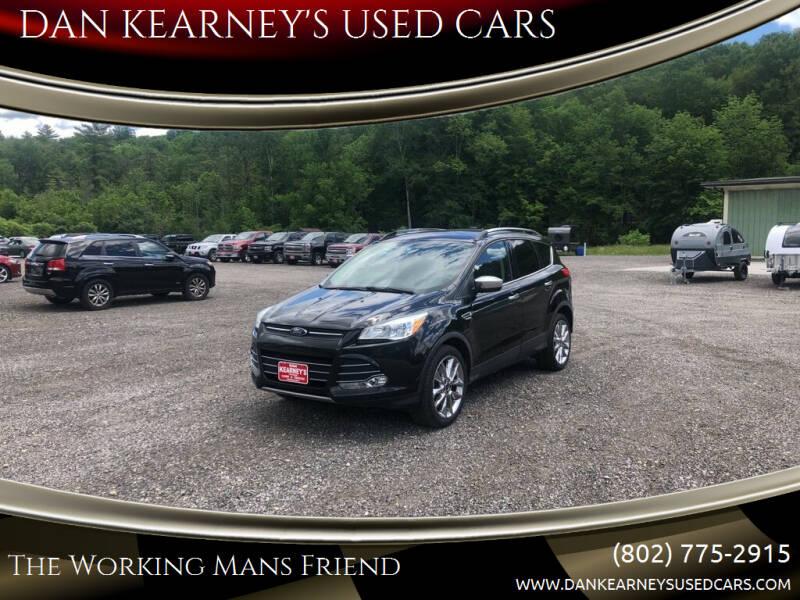 2015 Ford Escape for sale at DAN KEARNEY'S USED CARS in Center Rutland VT
