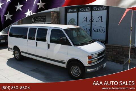 1999 Chevrolet Express Passenger for sale at A&A Auto Sales in Orem UT