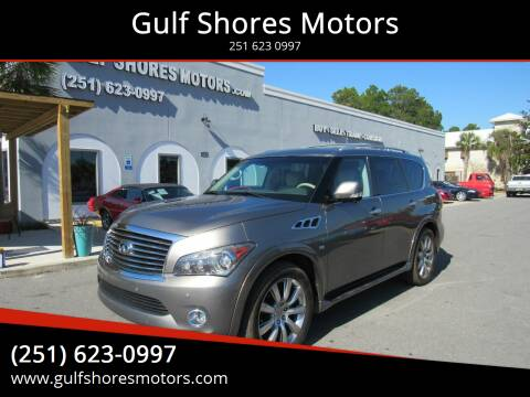 2014 Infiniti QX80 for sale at Gulf Shores Motors in Gulf Shores AL