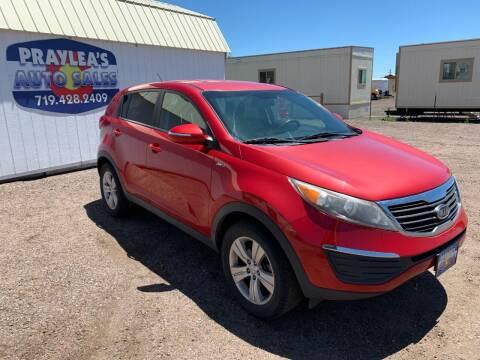 2012 Kia Sportage for sale at Praylea's Auto Sales in Peyton CO