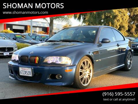 2004 BMW M3 for sale at SHOMAN AUTO GROUP in Davis CA