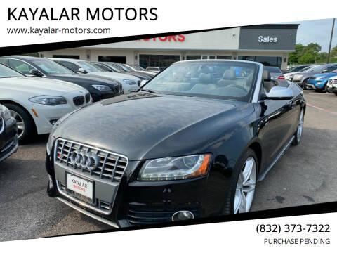 2010 Audi S5 for sale at KAYALAR MOTORS in Houston TX