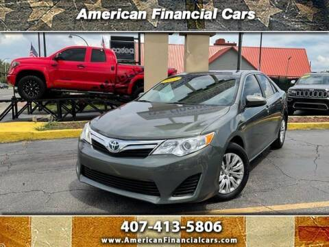 2012 Toyota Camry Hybrid for sale at American Financial Cars in Orlando FL