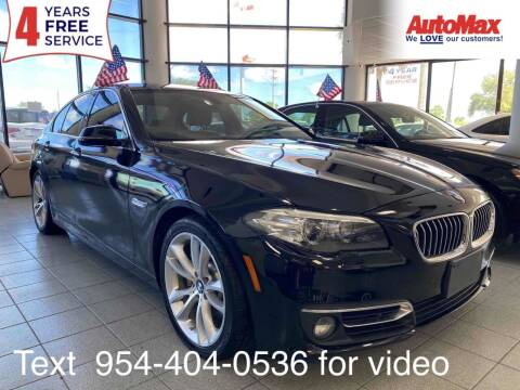 2015 BMW 5 Series for sale at Auto Max in Hollywood FL