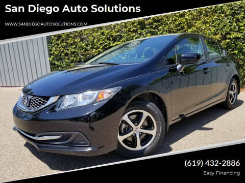2015 Honda Civic for sale at San Diego Auto Solutions in Escondido CA