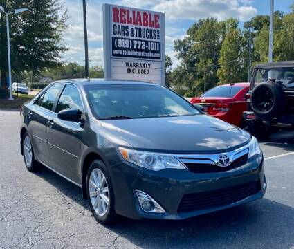 2012 Toyota Camry for sale at Reliable Cars & Trucks LLC in Raleigh NC