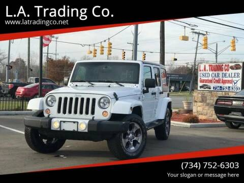 2016 Jeep Wrangler Unlimited for sale at L.A. Trading Co. in Woodhaven MI