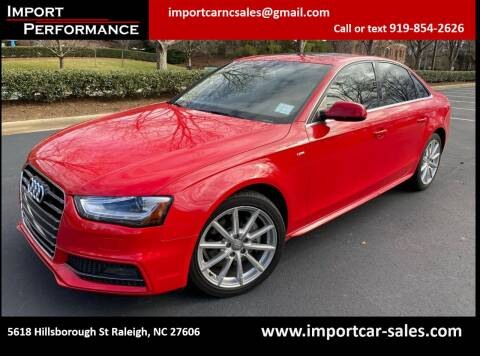 2014 Audi A4 for sale at Import Performance Sales in Raleigh NC