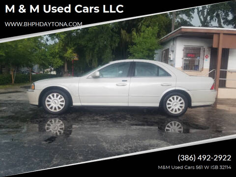 2004 Lincoln LS for sale at M & M Used Cars LLC in Daytona Beach FL