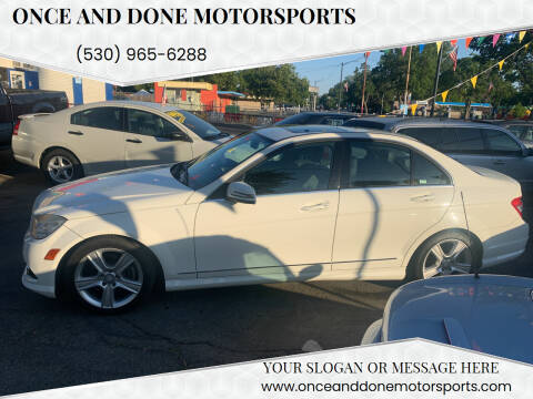 2010 Mercedes-Benz C-Class for sale at Once and Done Motorsports in Chico CA