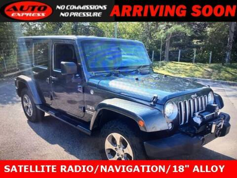 2017 Jeep Wrangler Unlimited for sale at Auto Express in Lafayette IN