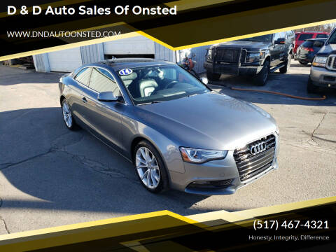 2014 Audi A5 for sale at D & D Auto Sales Of Onsted in Onsted   Brooklyn MI