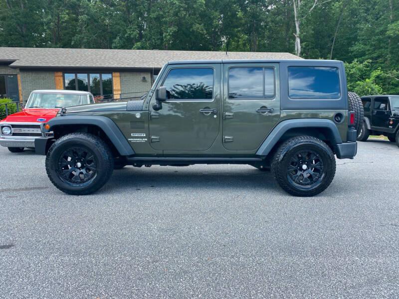 2015 Jeep Wrangler Unlimited for sale at Orange Bear Motors in Landrum SC