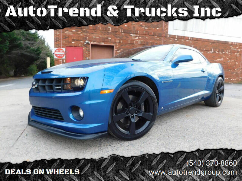 2010 Chevrolet Camaro for sale at AutoTrend & Trucks Inc in Fredericksburg VA