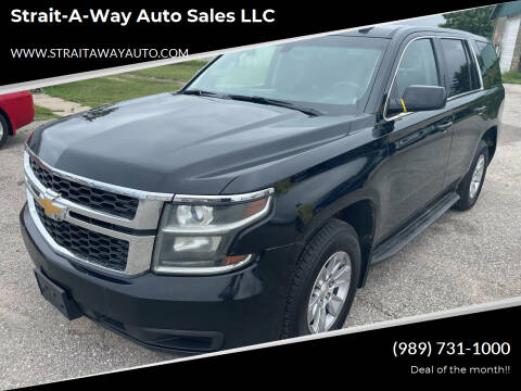 2015 Chevrolet Tahoe for sale at Strait-A-Way Auto Sales LLC in Gaylord MI