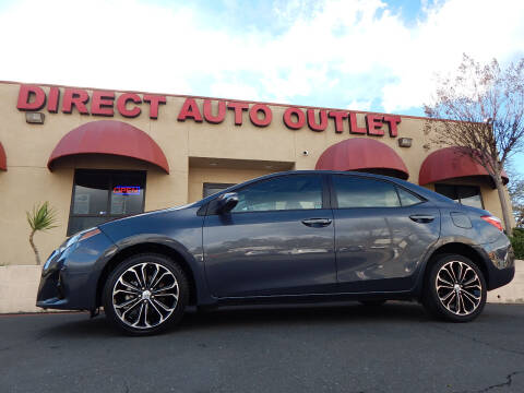 2016 Toyota Corolla for sale at Direct Auto Outlet LLC in Fair Oaks CA