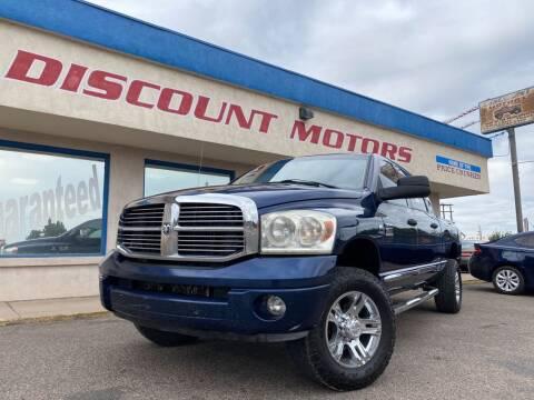 2007 Dodge Ram Pickup 2500 for sale at Discount Motors in Pueblo CO