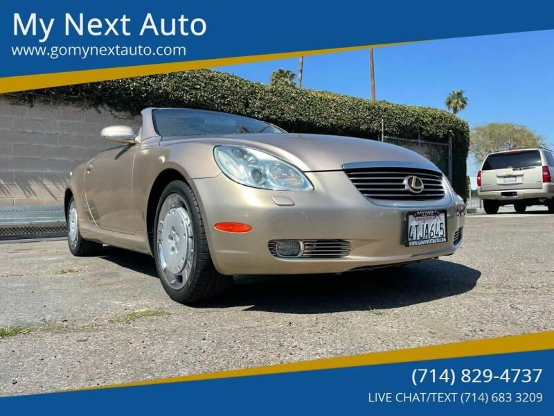 2002 Lexus SC 430 for sale at My Next Auto in Anaheim CA