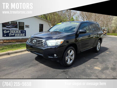 2008 Toyota Highlander for sale at TR MOTORS in Gastonia NC