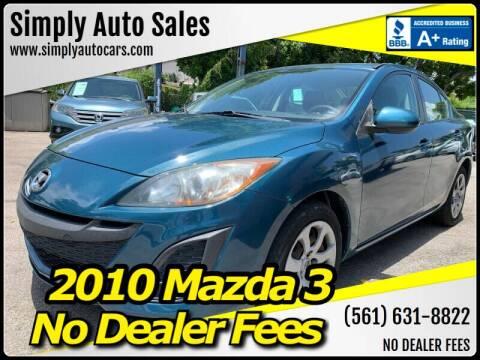 2010 Mazda MAZDA3 for sale at Simply Auto Sales in Palm Beach Gardens FL