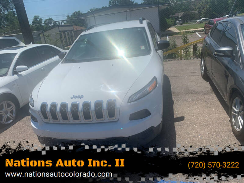 2016 Jeep Cherokee for sale at Nations Auto Inc. II in Denver CO
