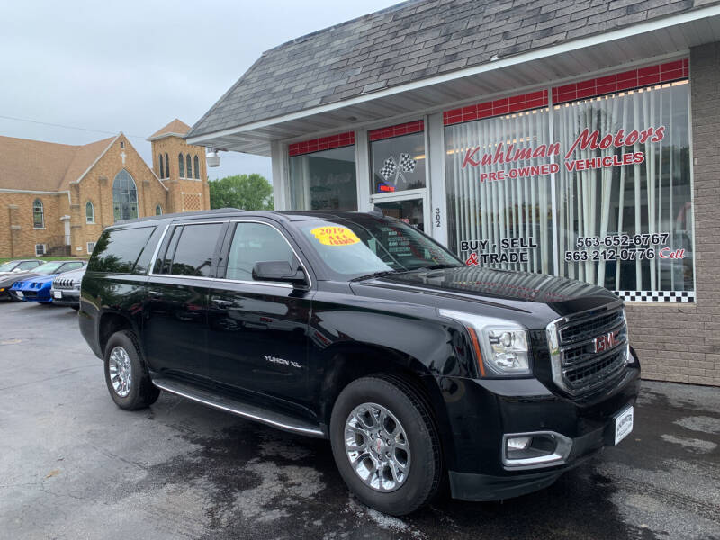 2019 GMC Yukon XL for sale at KUHLMAN MOTORS in Maquoketa IA