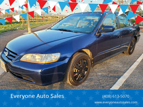 2002 Honda Accord for sale at Everyone Auto Sales in Santa Clara CA