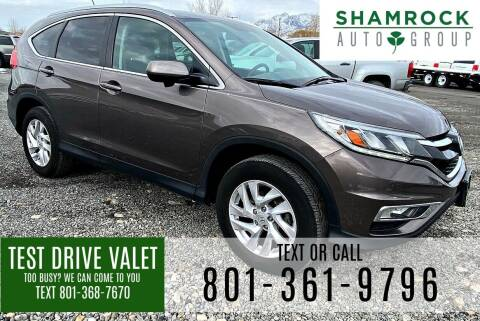 2016 Honda CR-V for sale at Shamrock Group LLC #1 in Pleasant Grove UT