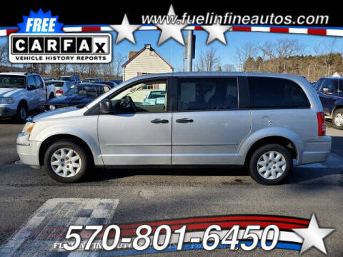 2008 Chrysler Town and Country for sale at FUELIN FINE AUTO SALES INC in Saylorsburg PA