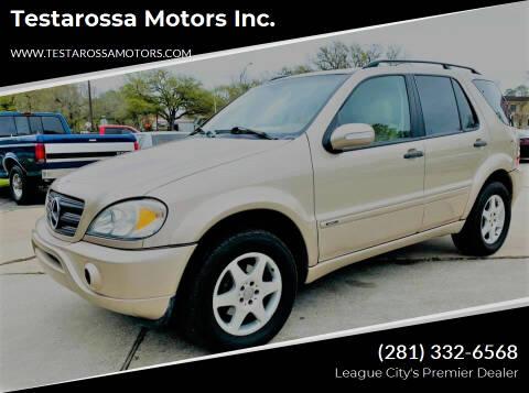 2002 Mercedes-Benz M-Class for sale at Testarossa Motors Inc. in League City TX