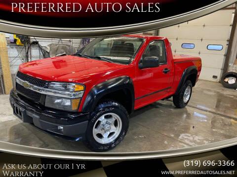 2012 Chevrolet Colorado for sale at PREFERRED AUTO SALES in Lockridge IA
