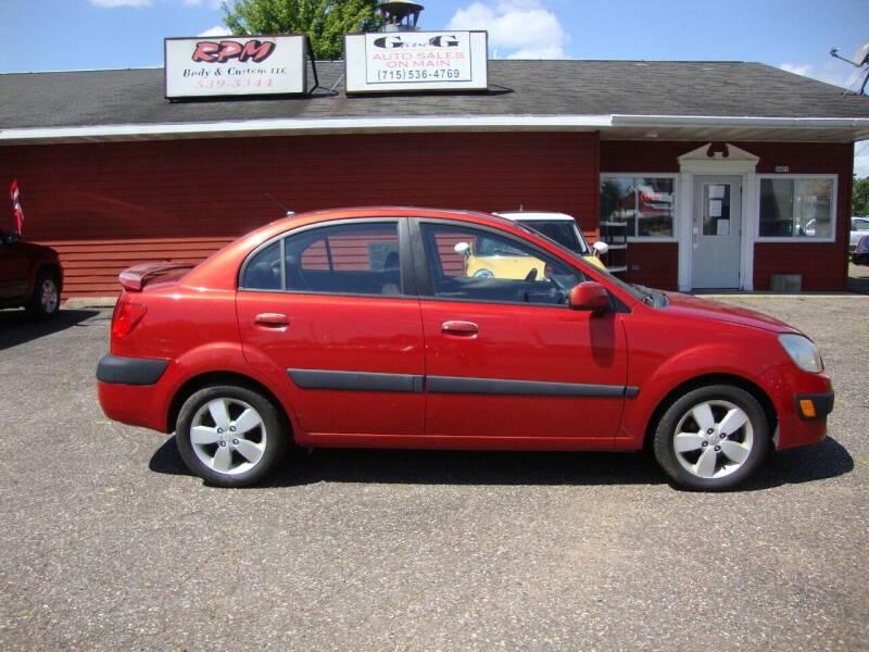 2007 Kia Rio for sale at G and G AUTO SALES in Merrill WI