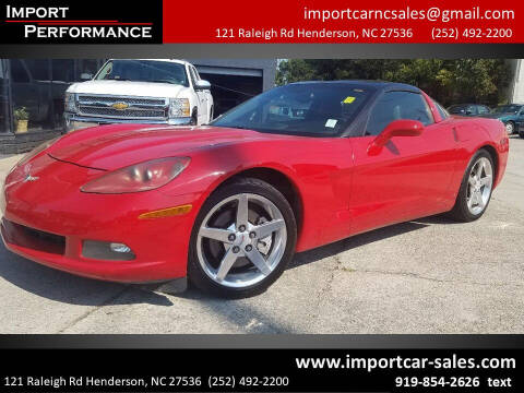2006 Chevrolet Corvette for sale at Import Performance Sales - Henderson in Henderson NC