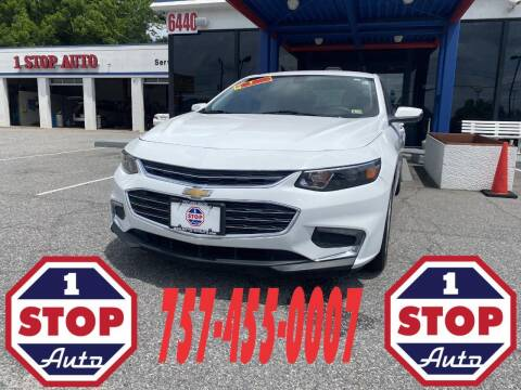 2018 Chevrolet Malibu for sale at 1 Stop Auto in Norfolk VA