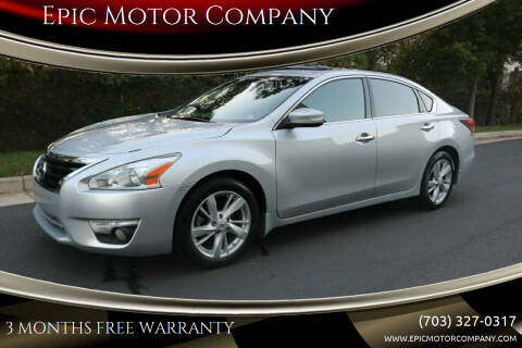 2014 Nissan Altima for sale at Epic Motor Company in Chantilly VA