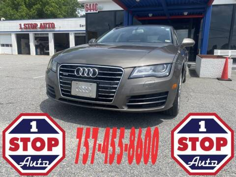 2013 Audi A7 for sale at 1 Stop Auto in Norfolk VA