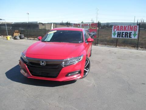 2018 Honda Accord for sale at Quick Auto Sales in Modesto CA