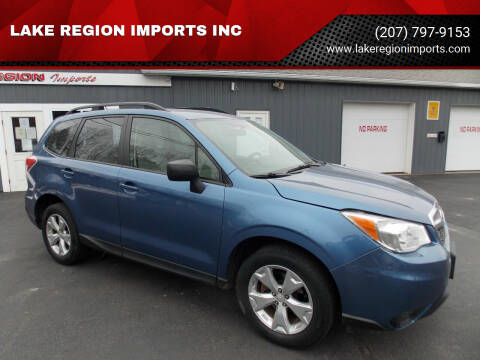 2015 Subaru Forester for sale at LAKE REGION IMPORTS INC in Westbrook ME